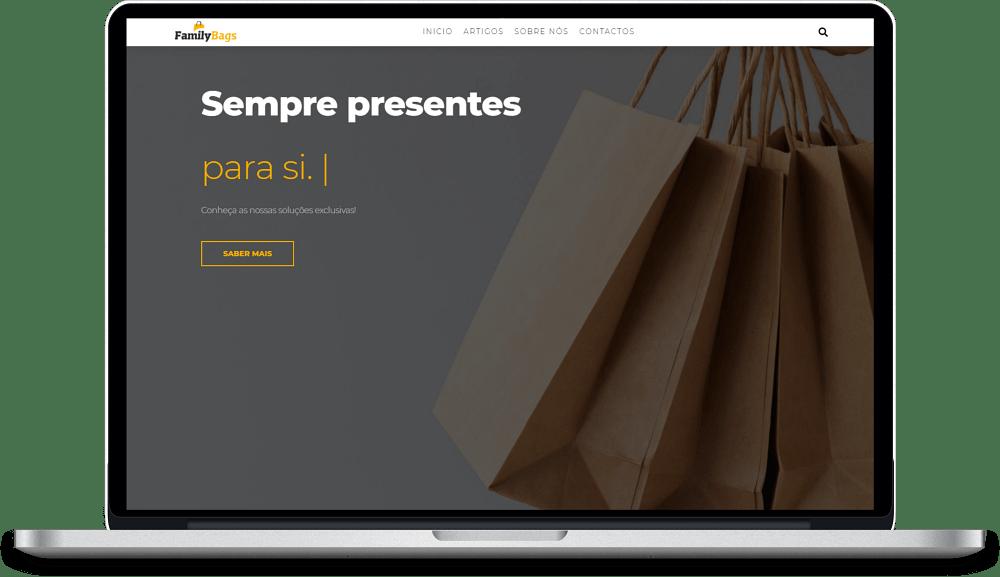 imagem de construção de website do cliente embalagensfamilybags.com